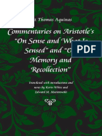 Saint Thomas Aquinas, Commentary on Aristotle's On sense and On memory and recollection (inglés).pdf