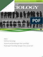 Pengantar Sosiologi Week 1