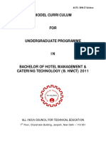 AICTE Model Syllabus Hotel Management- 4 Year