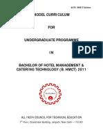 AICTE Model Syllabus Hotel Management- 4 Year