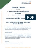 CURSO FORMACIÓN_Medicina Ambiental para médicos (julio 2010. Fundac. Alborada)