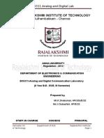 Analog & Digital Student Lab Manual
