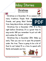Free Holiday Reading Comprehension Christmas