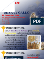 Day 3 - Misa de Gallo 2016 Homily