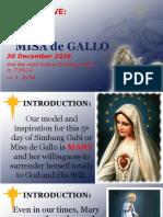 Day 5 - Misa de Gallo 2016 Homily