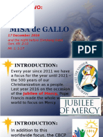 Day 2 - Misa de Gallo 2016 Homily
