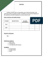 Empty Resume