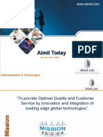 Instrumentation & Technology - Aimil Ltd - Corporate Presentation