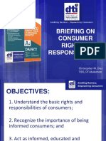 Consumer Rights and Responsibilities CMD