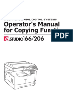 Operator's Manual for Copying TOSHIBA 166