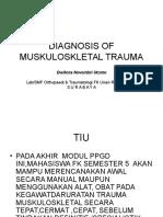 Diagnosis of Muskuloskletal Trauma