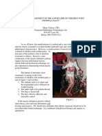 Orthotic Management of the Lower Limb of Children With Cerebral Palsy- Revised Sept 2010a