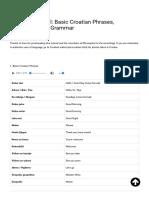 Croatian Tutorial_ Basic Croatian Phrases, Vocabulary and Grammar