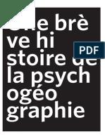 Une brève histoire de la psychogéographie
