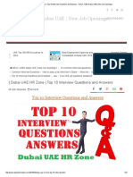10 Interview Questions and Answers - DAILY JOBS Dubai UAE _ New Job Openings