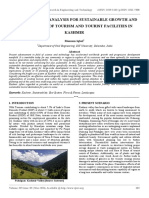 Assessment and Analysis for Sustainable Growth and Development of Tourism and Tourist Facilities in Kashmir