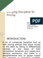 Bringing Discipline to Pricing