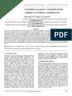 Behaviour of Pavement Quality Concrete With Reclaimed Asphalt Pavement Aggregates