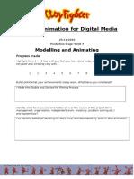 animation production evaluation form week 4