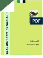 Folia Botanica Extremadurensis 10 2016