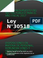 Ley de Presupuesto 2017