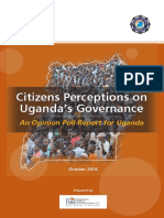 Citizens' perceptions on Uganda's governance - An opinion poll report