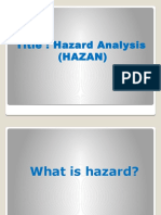 Hazard Analysis - Occupational Safety and Health