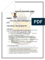 Chitungwiza Municipality Junior Council Official Constitution