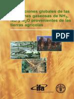 Estimaciones globales de las emissiones gaseosas de NH3 de las tierras agricolas