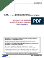 Samsung K4H641638N LCCC Datasheet