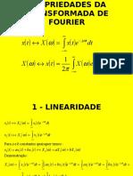 Propriedades Transformada de Fourier