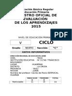 Registro Auxiliar de Evaluacion Primaria 2016 Copia
