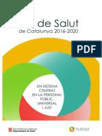 Pla Salut Catalunya 2016 2020
