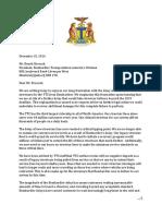 Lettre du maire John Tory à Bombardier