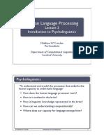 human language processing