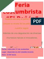 Afiche Feria Costumbrista