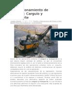 Dimensionamiento de Equipos Carguío y Transporte