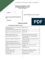 Scheduling Order AdelmanVDart