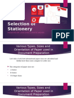 selection of stationery presentation