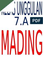 Judul Mading 7.A