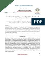 Synthesis and Antibacterial Studies - Taj Pharmaceuticals Ltd., Mumbai India