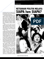 Ketuanan Politik Melayu:Siapa Lawan Siapa?