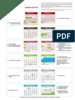 Calendario Laboral Del PAS 2017