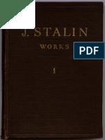 Stalin - Works - Vol. 01