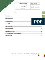 Protocolo de IdentificaciÓn de Pacientes