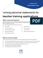 Personal statement for teacher training