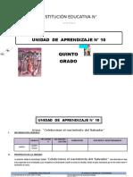 UNIDAD DE APRENDIZAJE 5° DE ED. PRIMARIA DICIEMBRE 2016