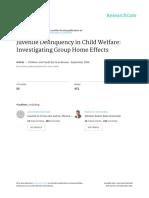 Juvenile Delinquency in Child Welfare Investigatin