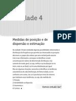 Livro - Unidade 4 - Medidas de Posição e de Dispersão e Estimação
