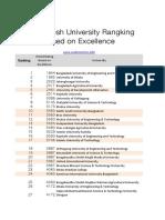 Bd Uni Ranking Sheet1